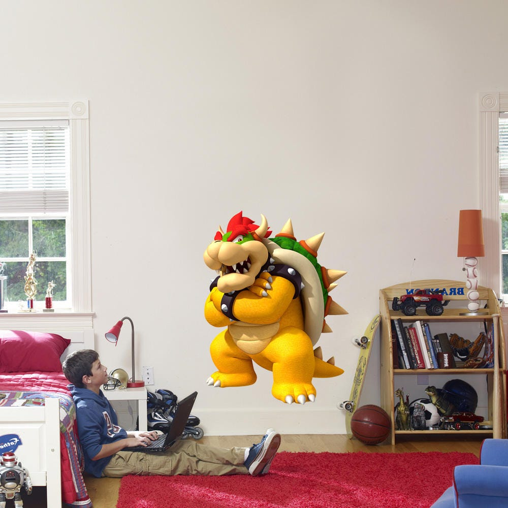 Bowser wall stickers kamos sticker bowser vinyl sticker ebay source bowser super mario bros decal removable wall sticker home decor amipublicfo Gallery