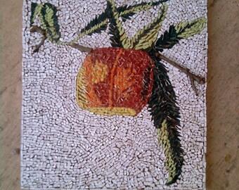 Micro-Mosaic d a still life: fishing.