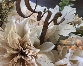 Set of 10 Wooden Table Numbers Table Numbers Wedding Table Numbers, Wedding Table Decor Script Table Numbers Table Number Wands