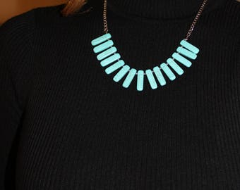 Marblized turquoise necklace