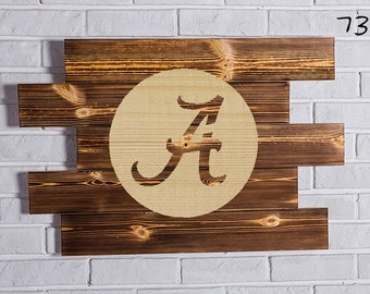 alabama crimson tide Wood Sign  alabama crimson tide Wall art  alabama crimson tide Gift  alabama crimson tide Birthday