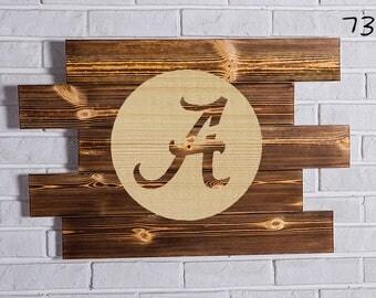 alabama crimson tide Wood Sign  alabama crimson tide Wall art  alabama crimson tide Gift  alabama crimson tide Birthday