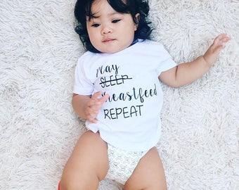 Play Sleep Breastfeed Repeat Tee