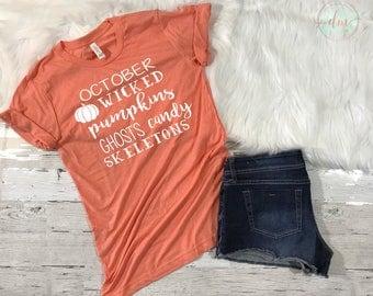 Halloween Shirt, Halloween gift, Women's Halloween Shirt, Halloween T Shirt, Happy Halloween Shirt, Halloween Costume, Halloween Tee