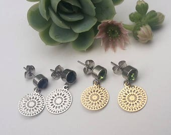 Small Mandala Earrings