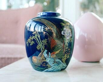 Dark Blue Oriental Vase