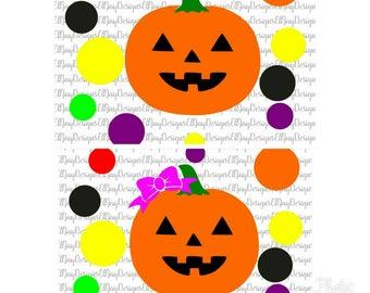 Jack O Lantern svg, Pumpkin with bow svg, bucket decal svg, halloween svg, trick or treat svg, halloween bucket cut file, silhouette cricut