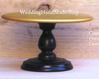 black and gold wedding cake stand custom gold cake stand 14 wedding bridal birthday 11813