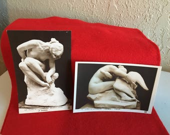 2 Vintage Art Museum Postcards-J. Desbois