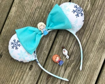Frozen Disney Ears- Elsa and Anna Ears- Disney Ears - Olaf Ears - Minnie Ears - Mickey Ears