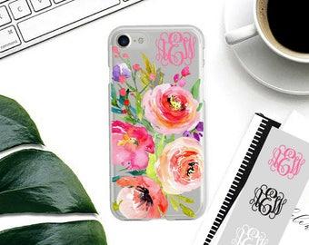 iPhone 7 Plus Case Monogram iPhone 7 Case Personalized, Custom Name iPhone 6 Case, 6 Plus, 5s, 5, SE iPhone Case, Personalised Gift.