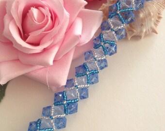 Blue Crystal Eliza Bracelet