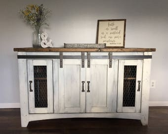 Rustic tv stand, media console, wood furniture, farmhouse, handmade, customized, Fixer upper