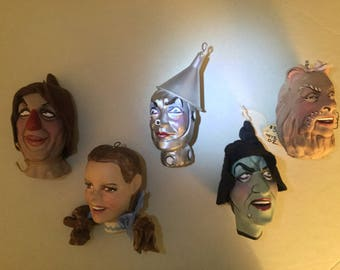 Handmade Wizard of Oz Marionette Heads by Ron Kron Complete Set