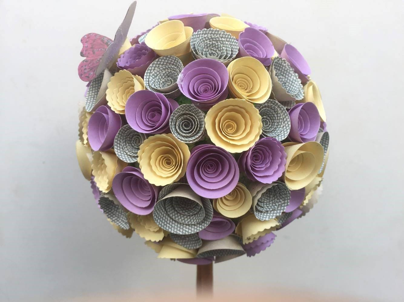 Paper flower topiary treetable centrepiecetable decorationwedding paper flower topiary treetable centrepiecetable decorationwedding giftbaby mightylinksfo