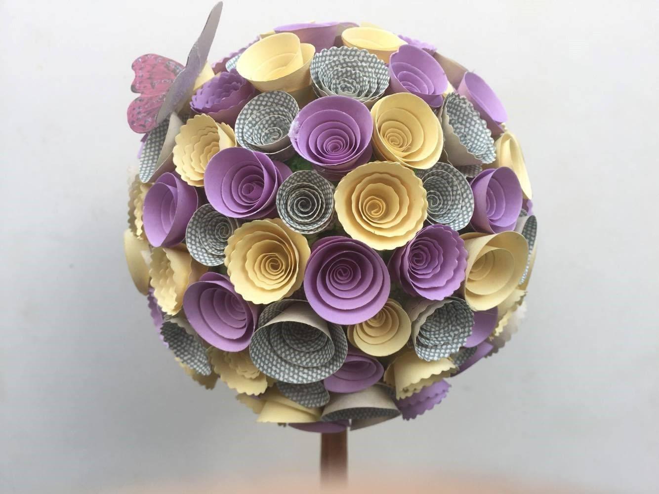 Paper Flower Topiary Treetable Centrepiecetable Decorationwedding
