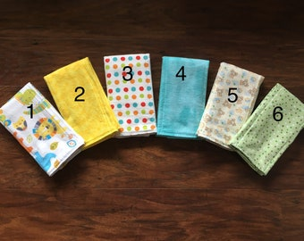 SELECT YOUR OWN Set of burp cloths, Diaper style burpcloth, Baby Shower Gift, Burp Cloth, Gender Neutral Burp Cloth, Baby Branch Boutique