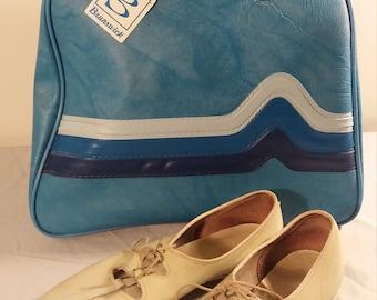 Vintage Brunswick Bowling Bag with Brunswick Bowling Shoes