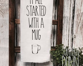 Rae Dunn Inspired Kitchen Towel It All Started With A Mug