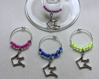 Princess Wine Charms