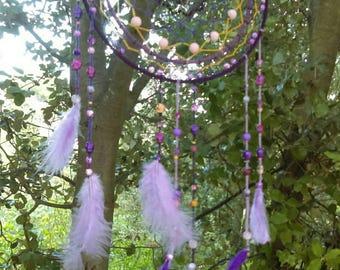 Purple & violet dreamcatcher