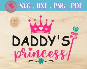 daddy's princess svg daddy's princess svg file princess svg princess svg file dad svg daddy svg file daddy clip art princess dxf file svg