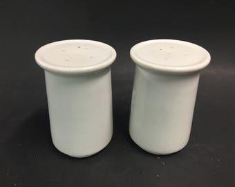 Mid Century Modern White Ceramic Salt and Pepper Shaker