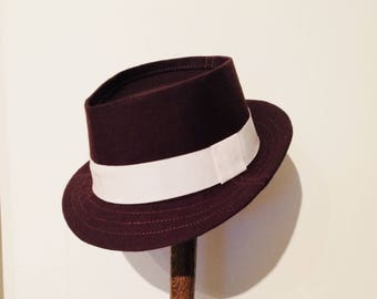 58.5cm Wool Fedora in Chocolate