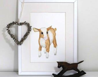 Farm nursery prints - Gorgeous baby goat
