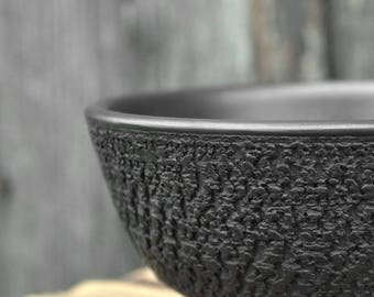 Ceramic bowl | Handmade bowl | Pottery bowl | Textured bowl | Tea bowl | Unique bowl | Ceramic and pottery | Stoneware bowl | Crockery