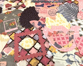 Scrapbook handmade, junk journal kit, paper embellishments, scrapbook ephemera pack
