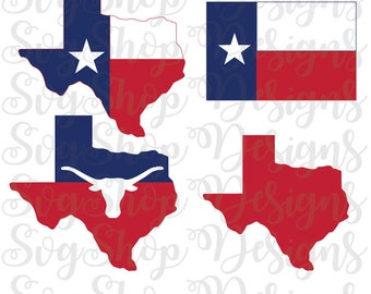 Texas State Flag SVG Clipart Vector - Cutting Files for Cricut, Silhouette - Cut File, Texas Flag, State Outline, Cut File, INSTANT DOWNLOAD
