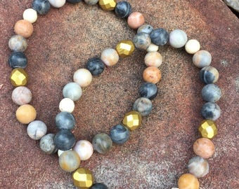 Picasso jasper with gold accents