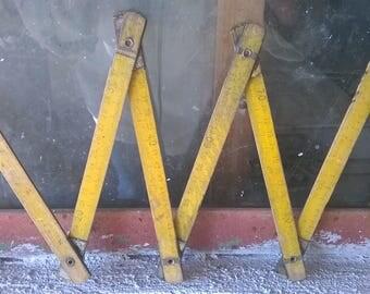 Wooden Meter Ruler Folding Ruler - Vintage Measuring Tool -Folding ruler -Farmhouse decor-Vintage folding