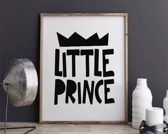 INSTANT DOWNLOAD Printable, Little Prince Printable, Nursery Wall Art, Typography Print, Little Prince Nursery