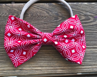"""Red maze bow 3"""" and 6"""""""