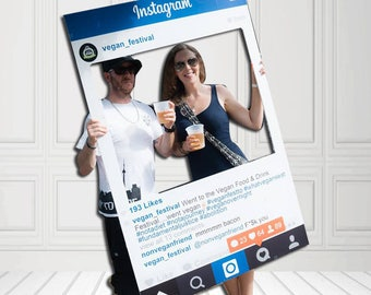 Instagram Frame Prop - Photobooth Instagram Prop - Photobooth Prop Instagram Frame - Printed / Digital File FREE SHIPPING in CANADA