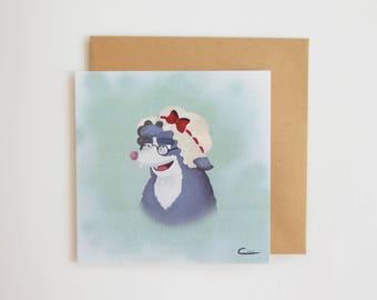 Card mailing big bad wolf