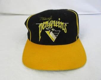 Vintage 90s Pittsburgh Penguins The Game Hat Cap NHL Hockey