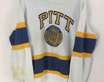 Vintage 70s University of Pittsburgh Pitt Nutmeg Mills Made In USA Pull over