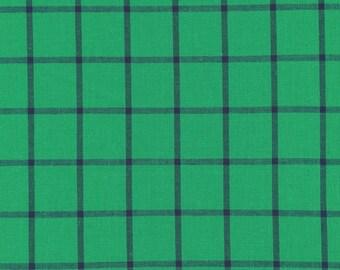 Fabric-Yarn Dye Plaid Broadcloth in Shamrock/Ocean - Cloud9 Fabrics