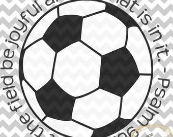 Soccer Psalm 96:12 SVG