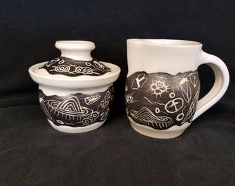 Hand Made Pottery Creamer (only) #5