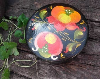 Russian hand painted woden box