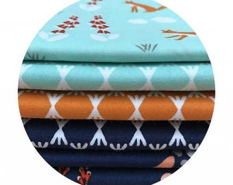 6 Fat Quarter Bundle - Foxglove Collection by Aneela Hoey for Cloud9 Fabrics