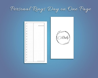 Personal Day on One Page for Ring Planners