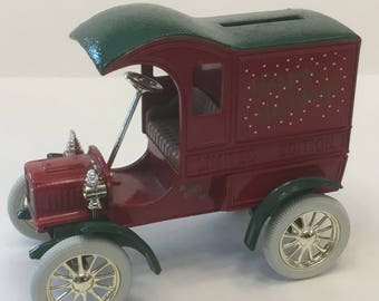 Coin Bank Marsh Supermarkets 1993 Collectible Limited Edition Motor Car Delivery Wagon