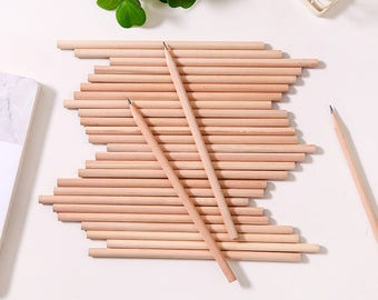 HB(#2) Graphite Round Pencils - 15 Pcs - Wood Pencil