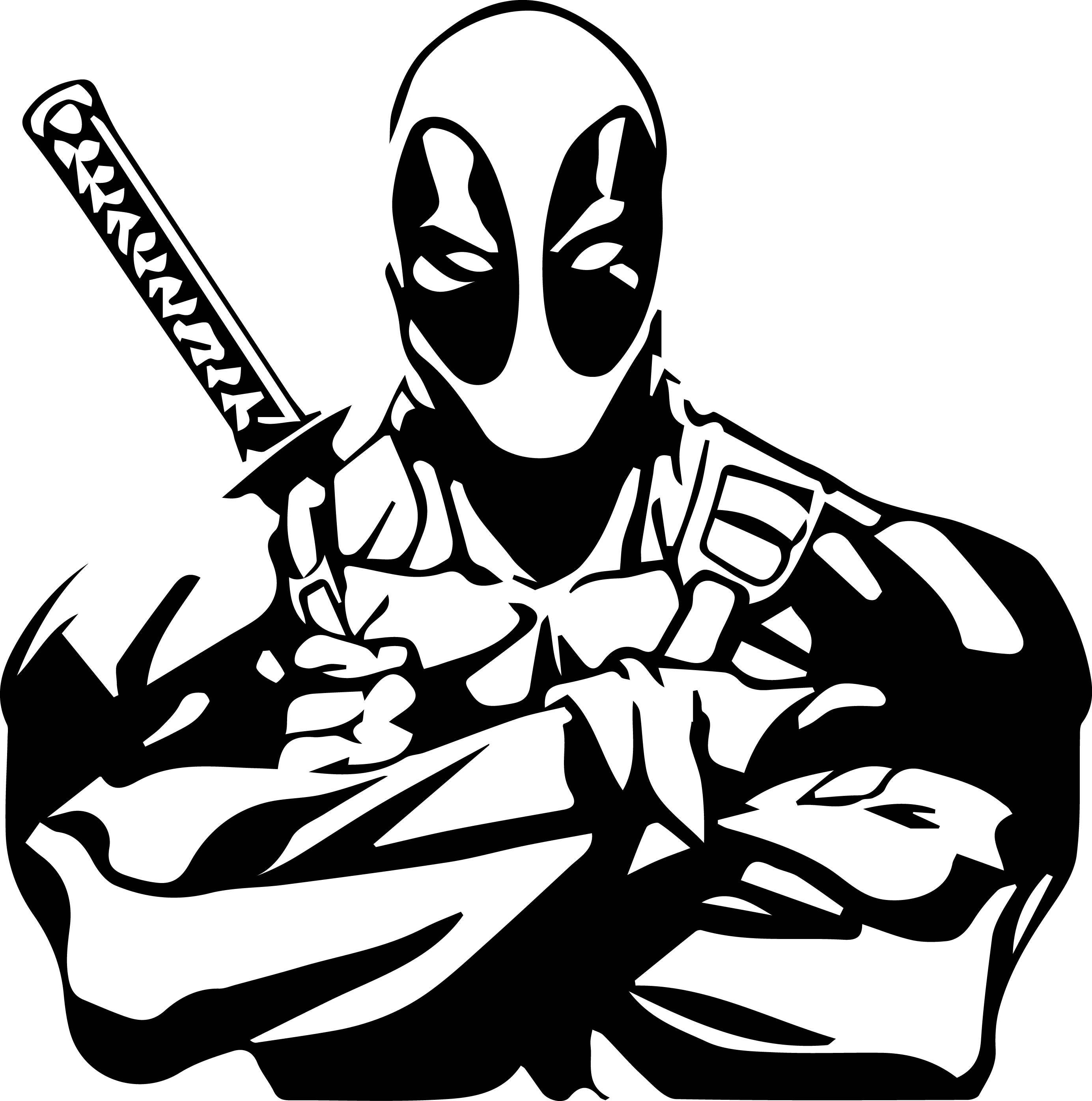 Deadpool Svg Files Silhouettes Dxf Files Cutting Files Cricut
