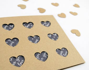 Nine Hearts Valentines Day Card - Laser Cut - Paper Cut Handmade - For Him - For Her - Boyfriend - Girlfriend - Wife - Husband - Beautiful